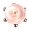 Glass Lamp Bead 6X10mm Spacer Pink/Bronze